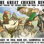 Watch Dr. Corey Olsen Run Like a Chicken!