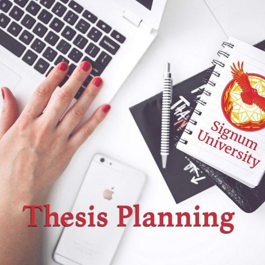 Thesis Planning: Language & Literature