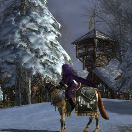 Wigend rides to Rohan on his war-steed