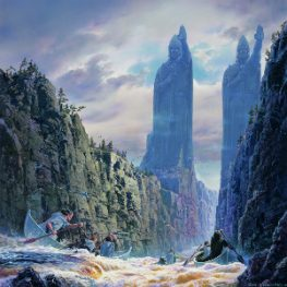 The Argonath, by Ted Nasmith (used with permission)