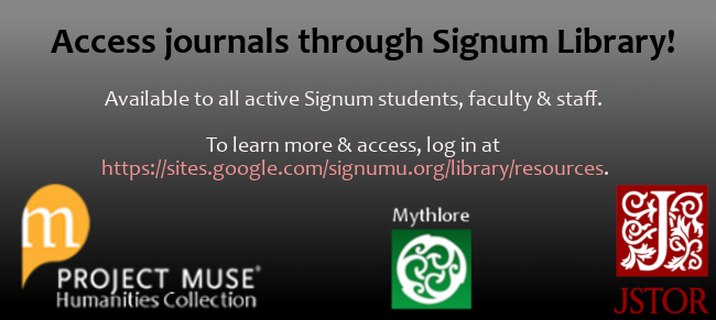 Access journals through Signum!