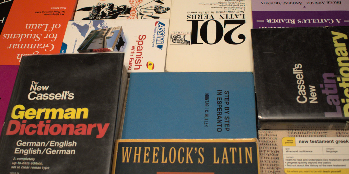 Latin, German, Spanish, Esperanto and Greek Translation Books