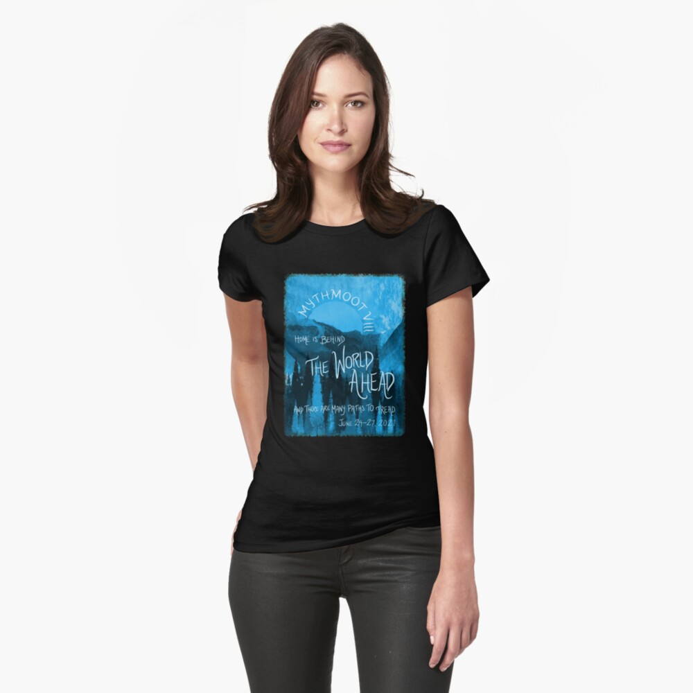 Mythmoot VIII: The World Ahead Blue Fitted T-shirt